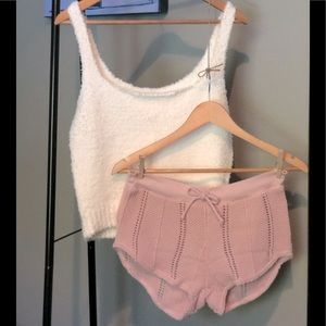 Short Knit Baby Pink Size S